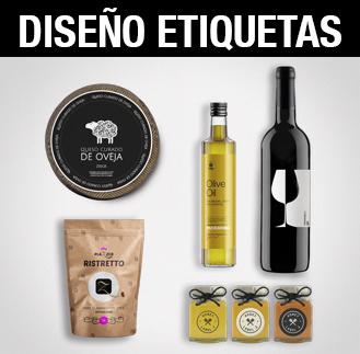 Diseño gráfico, diseño de etiquetas de productos, diseño gráfico Albacete