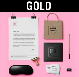 Diseño de identidades corporativas Albacete, identidad corporativa gold