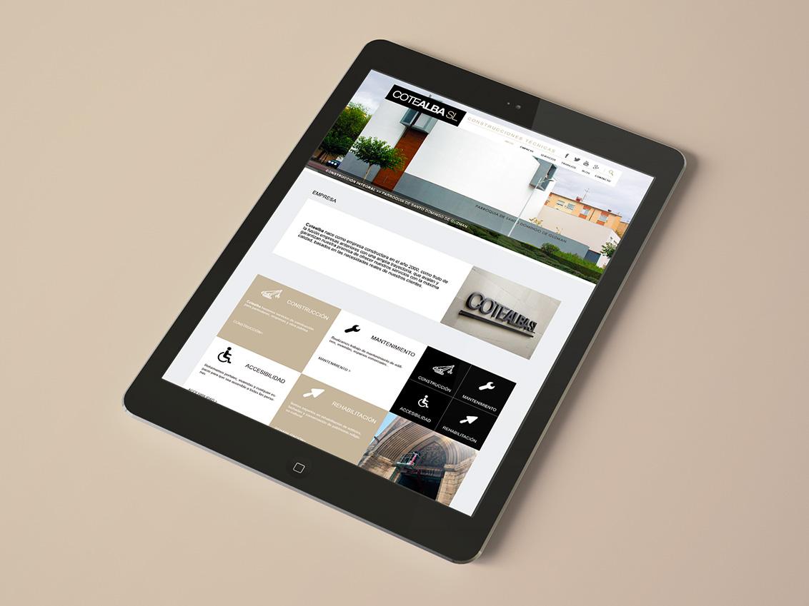 Diseño web empresa de construcción, diseño gráfico Albacete, branding, Cotealba