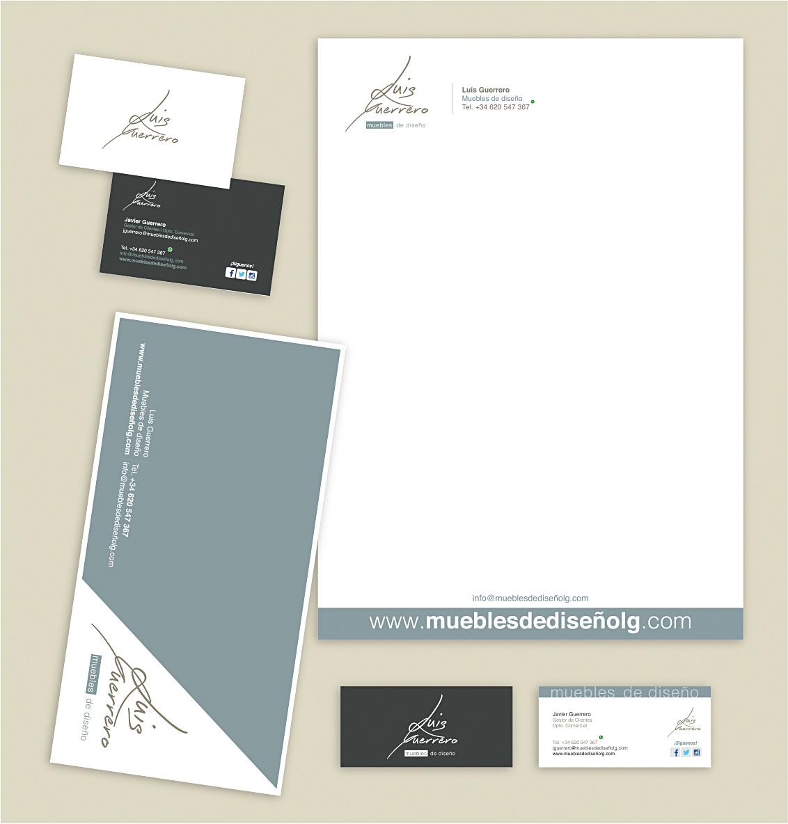 Diseño imagen corporativa, diseño identidad corporativa, estudios de diseño, papelería corporativa, impresión de tarjetas de visita, impresión de carpetas, Luis Guerrero