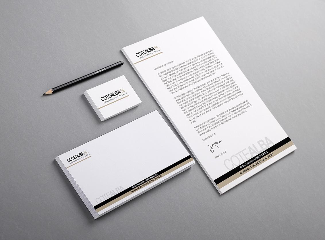 Diseño imagen corporativa, diseño identidad corporativa, estudios de diseño Cotealba
