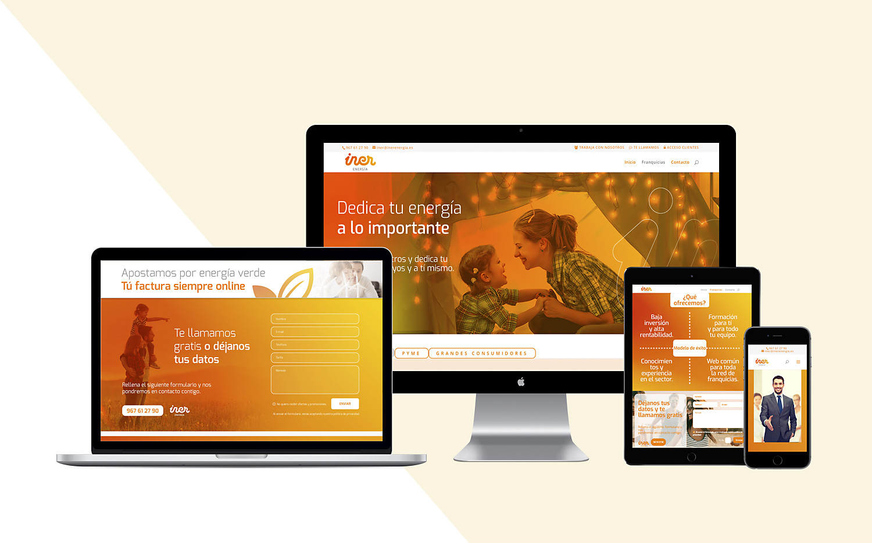Diseño web y programación a medida para Iner Energía