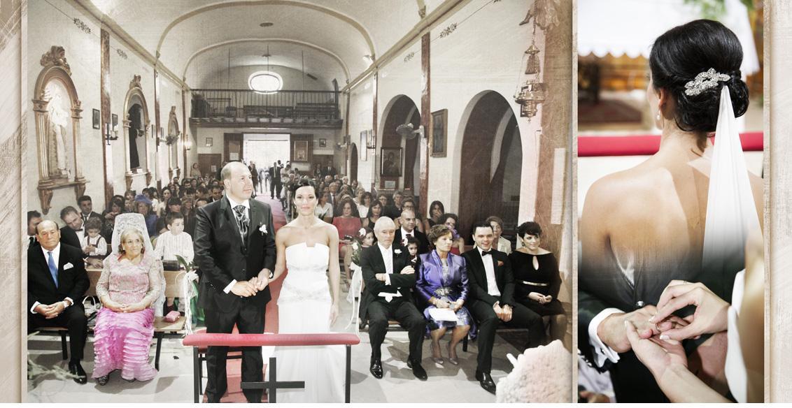 Fotografías Boda AlbaceteJuan Manuel y Noemí, collage fotografías boda ceremonia