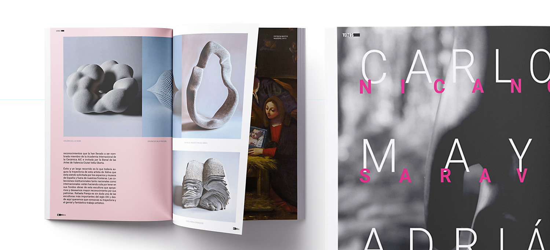 Diseño gráfico y maquetación en Albacete para Revista 967Arte