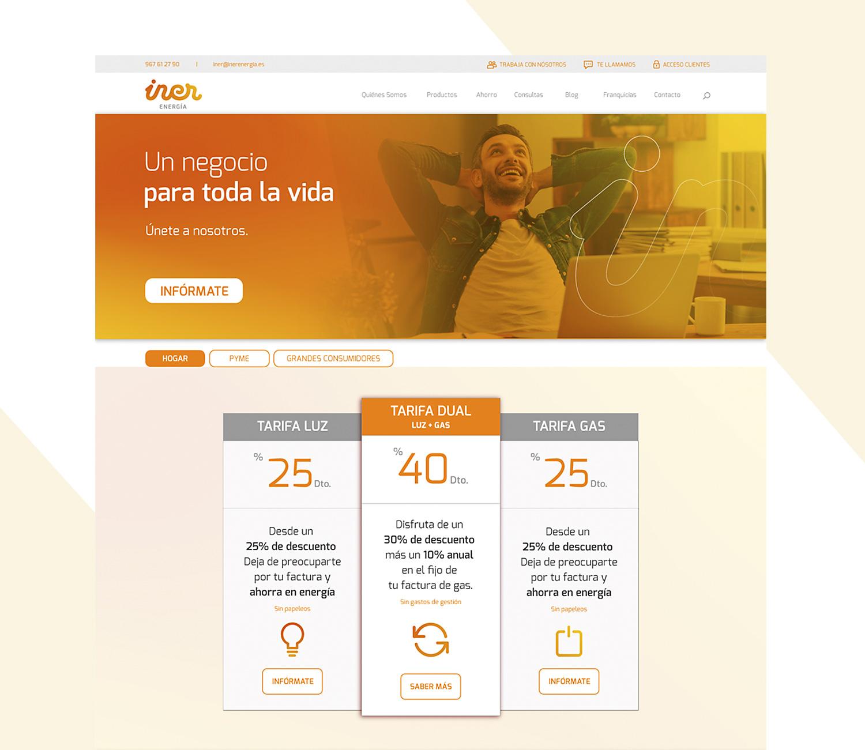 Diseño web corporativo a medida para Iner Energía