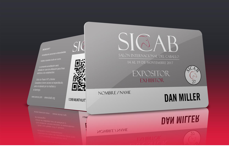Impresión de las tarjetas plasticas VIP,  simpatizante y expositor de la feria internacional del caballo SICAB 2017 ANCCE