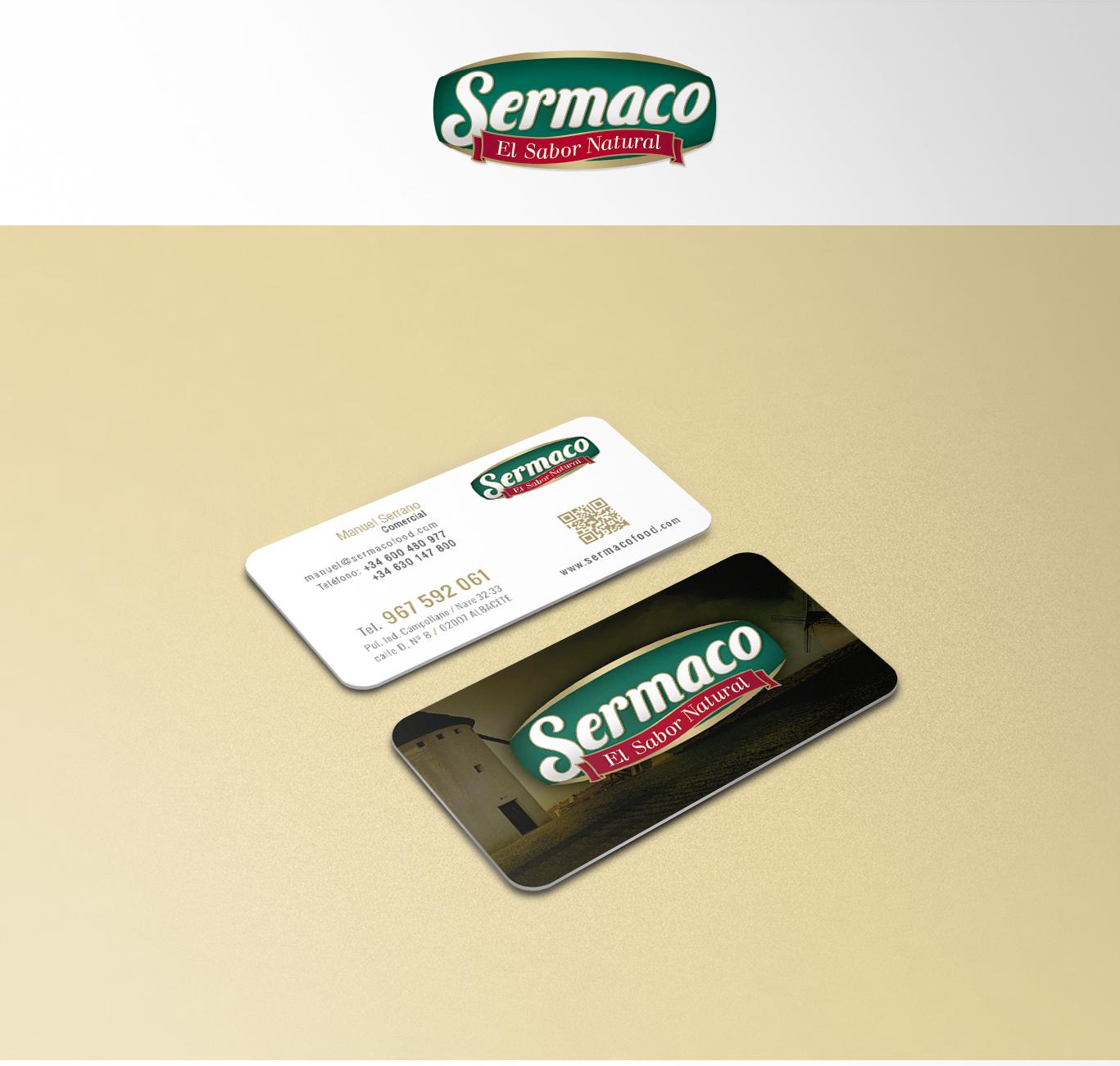 Impresión de tarjetas de visita para Sermaco