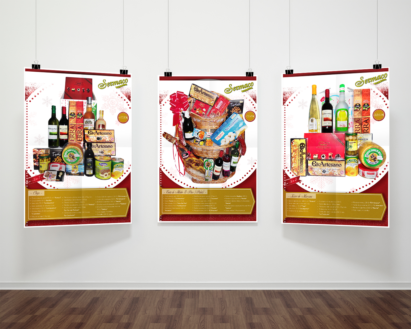Imprenta Albacete, impresión de carteles de cestas de navidad Sermaco