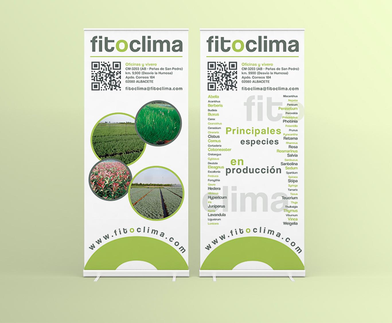 Diseño Gráfico Albacete, imprenta, rollups Fitoclima