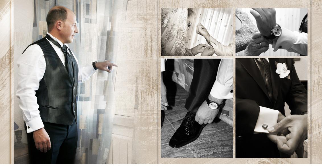 Fotografías Boda Albacete Juan Manuel y Noemí, collage fotografias boda casa novio