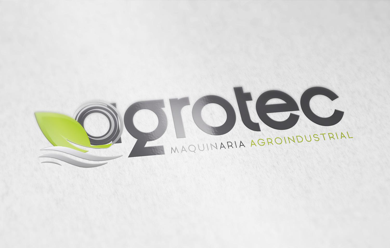 Diseño gráfico, identidad corporativa en Albacete para Agrotec Maquinaria Agroindustrial