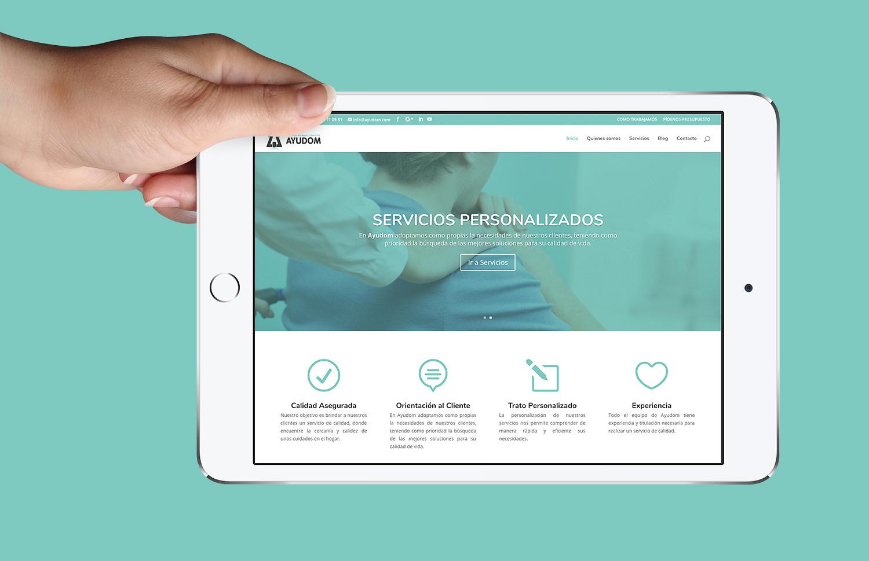 Diseño web albacete, diseño web a medida y programación página web Ayudom