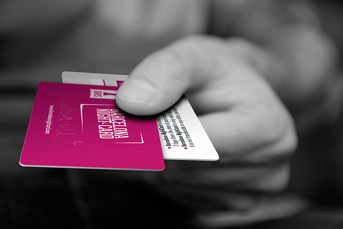 Imagen Tarjetas PVC Barcelona Night Card, imagen fotografia publicitaria