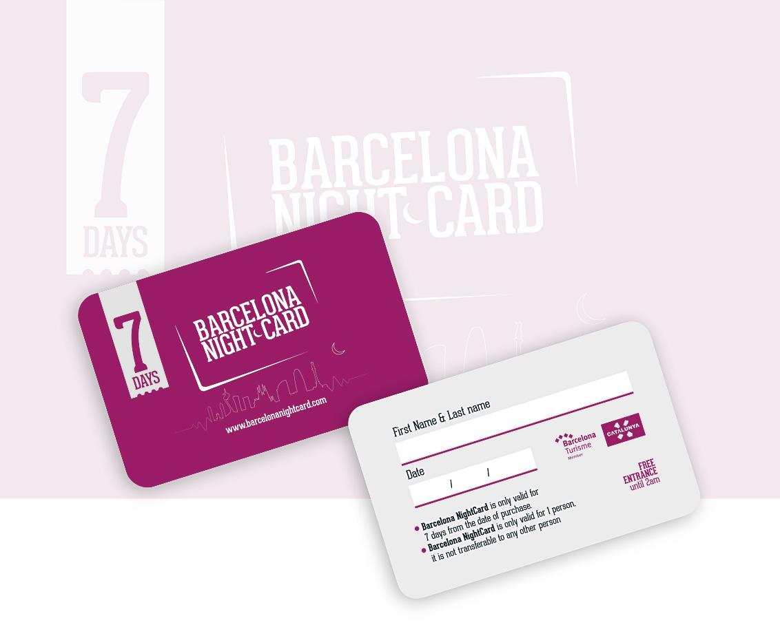Imagen Tarjetas PVC Impresas para empresa Barcelona Night Card