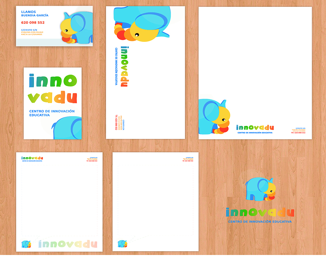 Diseño de papelería corporativa Innovadu