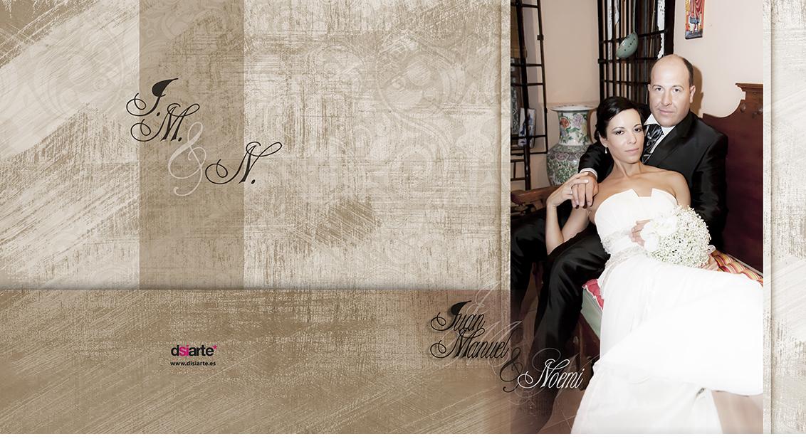 Fotografías Boda Juan Manuel y Noemí, portada álbum de boda