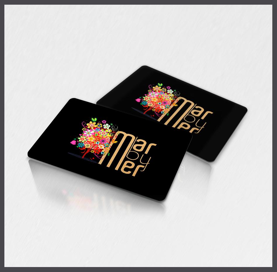Tarjetas PVC con estamping oro, tarjetas plásticas estamping oro o plata