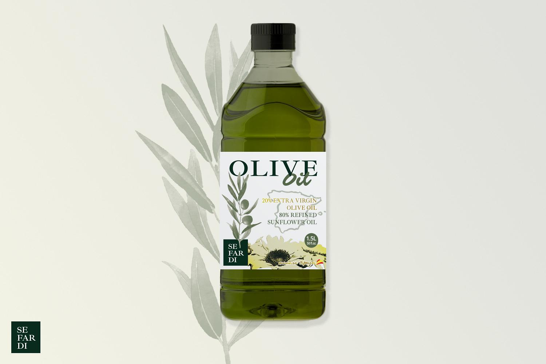 Diseño grafico, imprenta, diseño de etiquetas de aceite Albacete, diseño etiquetas Sefardi