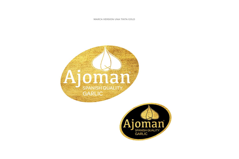 Diseño gráfico Albacete, diseño de imagen corporativa Ajoman, restyling marca, branding, diseño de packaging Ajoman.