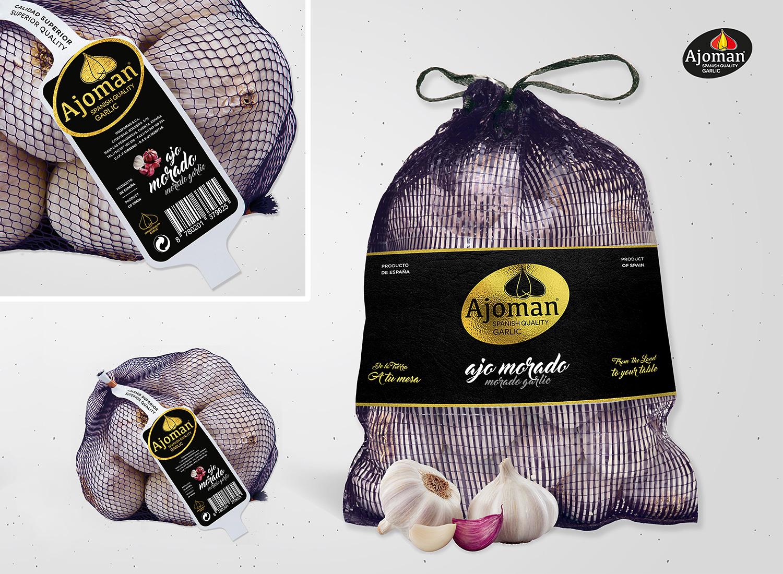 Diseño de packaging Albacete, rediseño de identidad corporativa para Ajoman