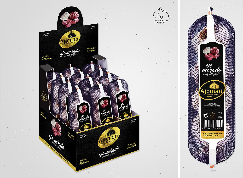 Estudios de diseño de packaging, rediseño de logotipo para Coopaman