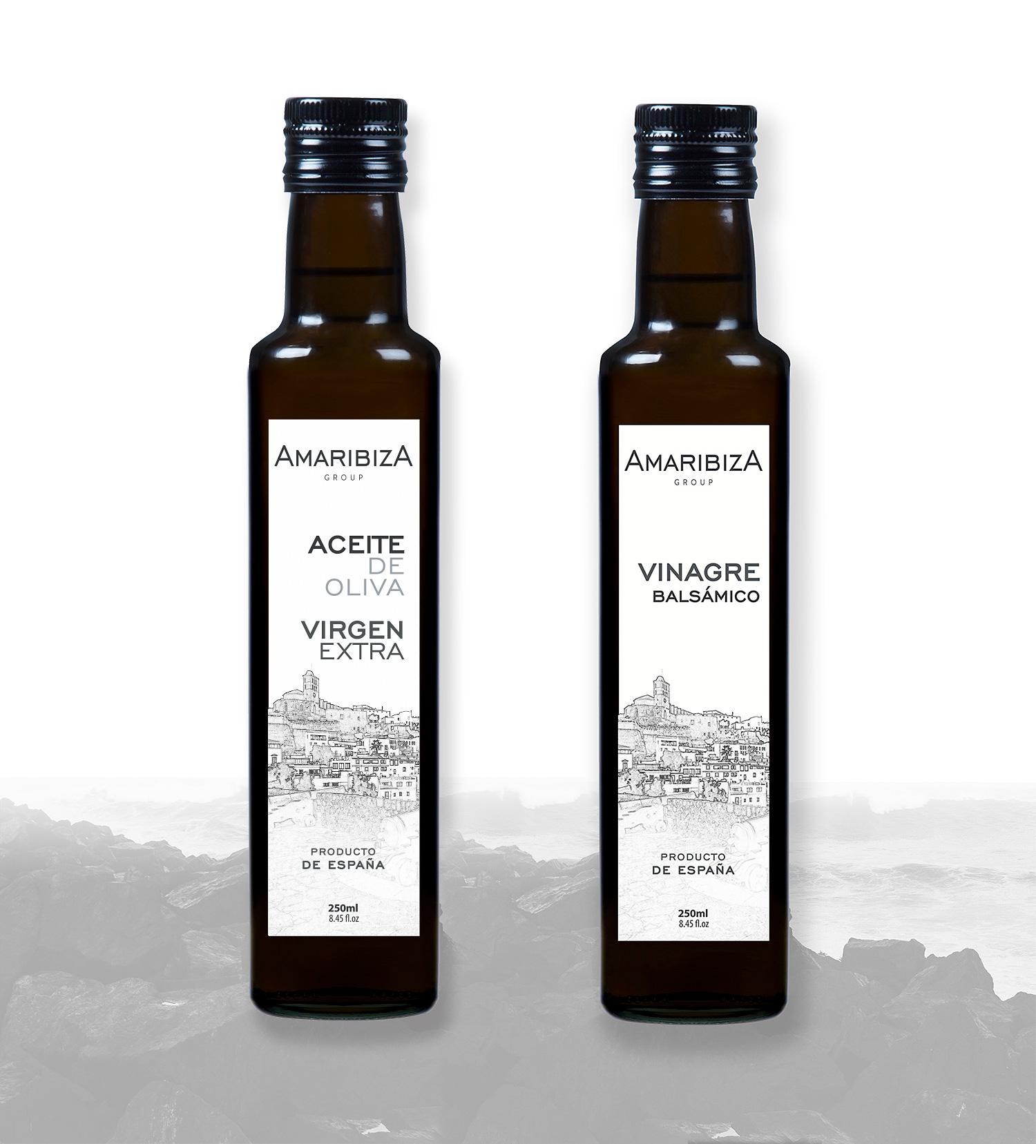 Diseño grafico, imprenta, diseño de etiquetas de aceite Albacete, diseño etiquetas Amar Ibiza Group