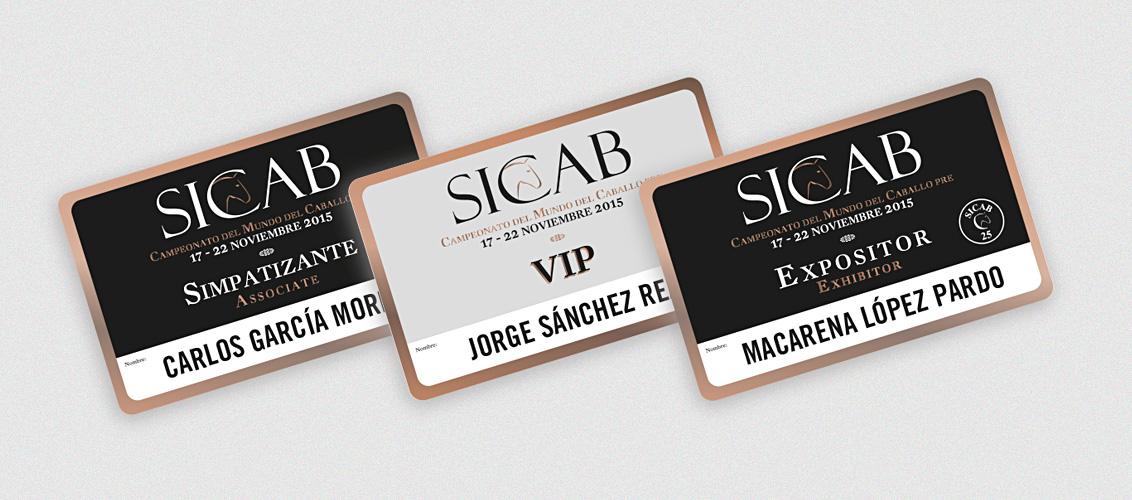 Impresión de las tarjetas PVC VIP,  simpatizante y expositor de la feria internacional del caballo SICAB 2015