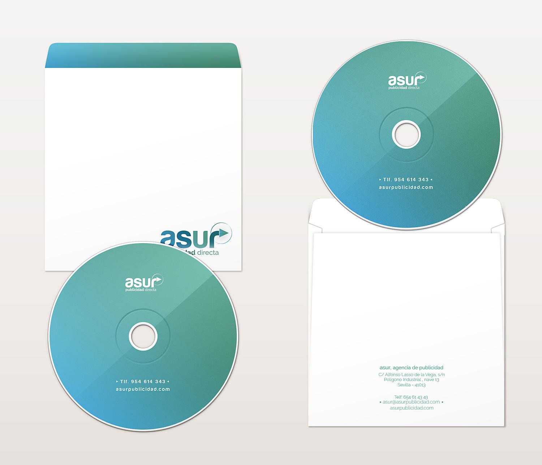 Diseño diseño gráfico, diseño de carátula de CD y diseño de marca Asur