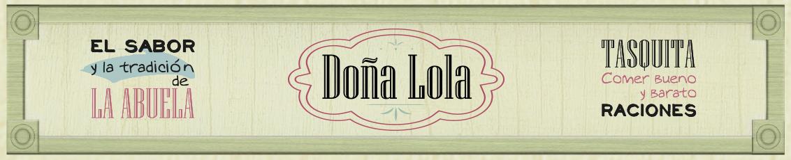 Cabecera Restaurante - tapería Doña Lona
