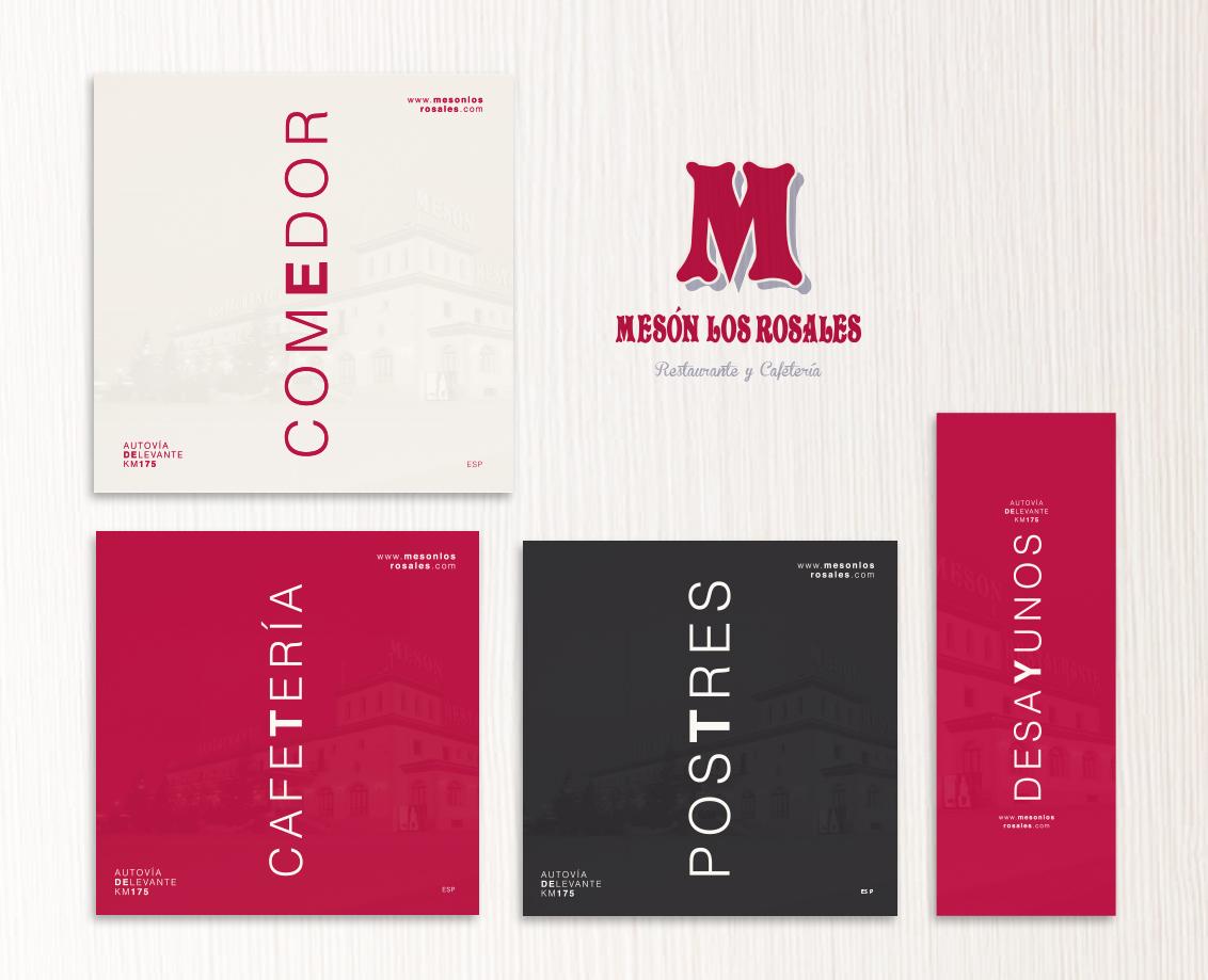 Diseño grafico albacete restyling logotipo diseño e impresion cartas Restaurante Los Rosales