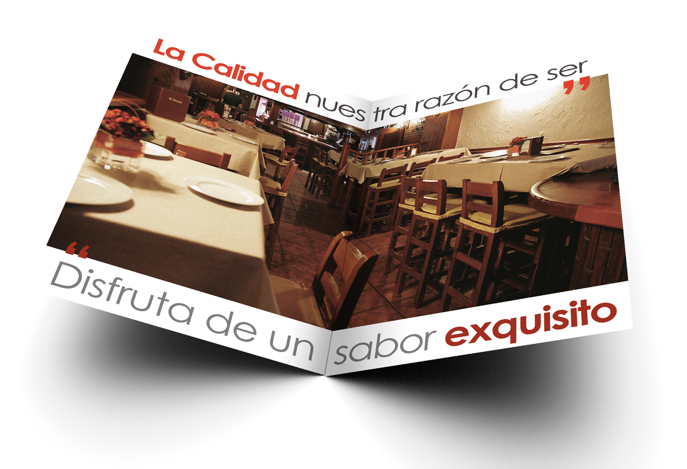 Diseño e impresión de cartas para restaurante El Porche