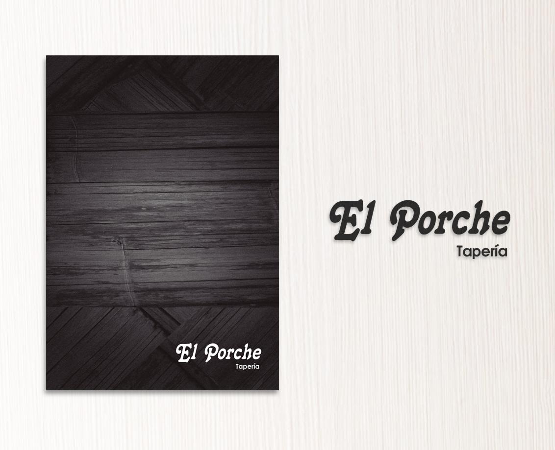 Diseño gráfico e impresión de cartas para restaurante El Porche