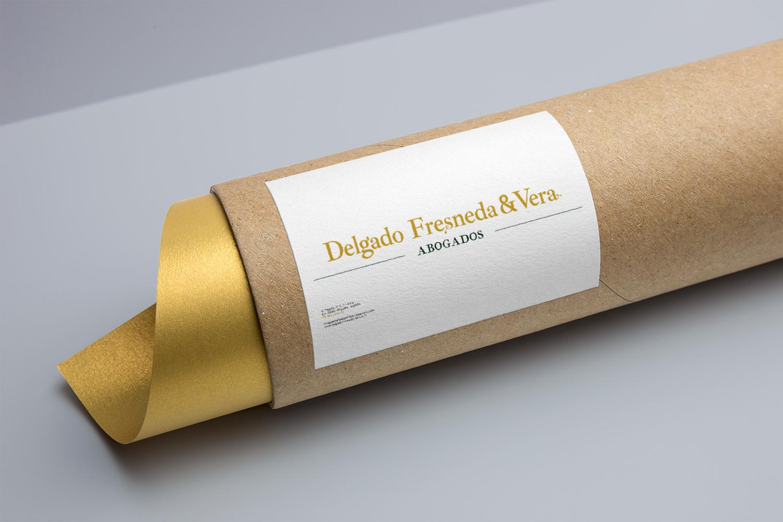Diseño gráfico, branding, papelería corporativa para Delgado Fresneda & Vera Abogados