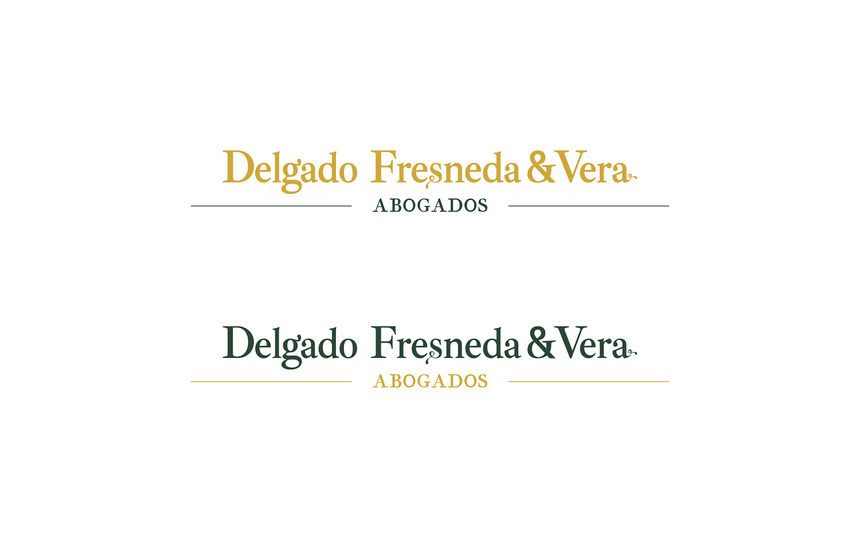 Diseño gráfico, branding, símbolo para Delgado Fresneda & Vera Abogados