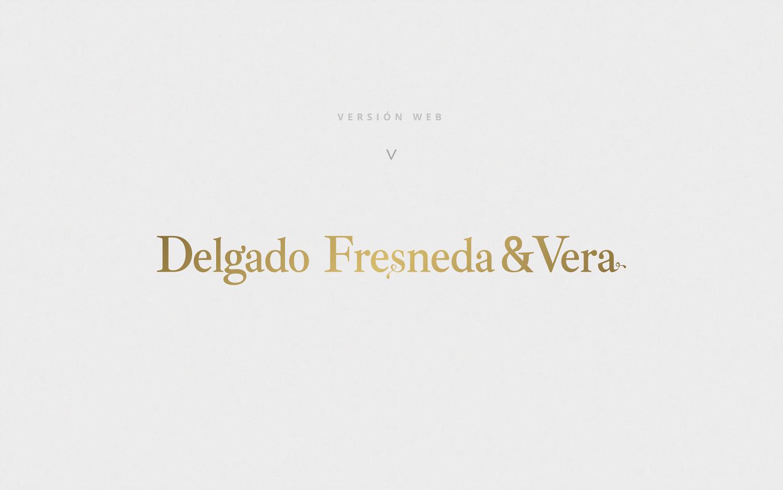 Diseño gráfico, branding, papelería comercial de empresa para Delgado Fresneda & Vera Abogados