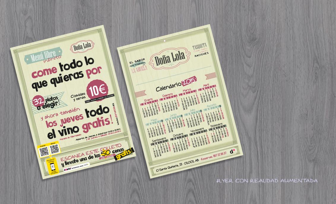 Flyer con realidad aumentada Doña Lola