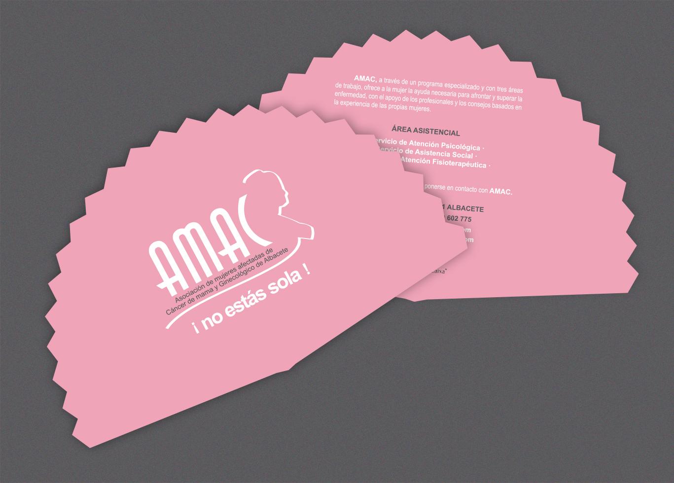 Diseño gráfico, diseño grafico Albacete e imprenta de abanicos publicitarios AMAC