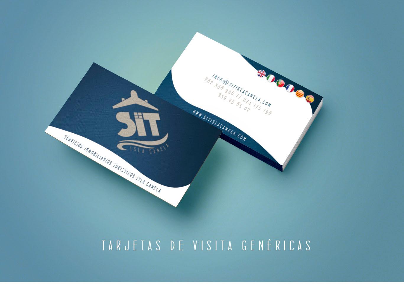 Diseño gráfico Albacete, diseño tarjetas de visita, impresión tarjetas de visita, SIT Isla Canela