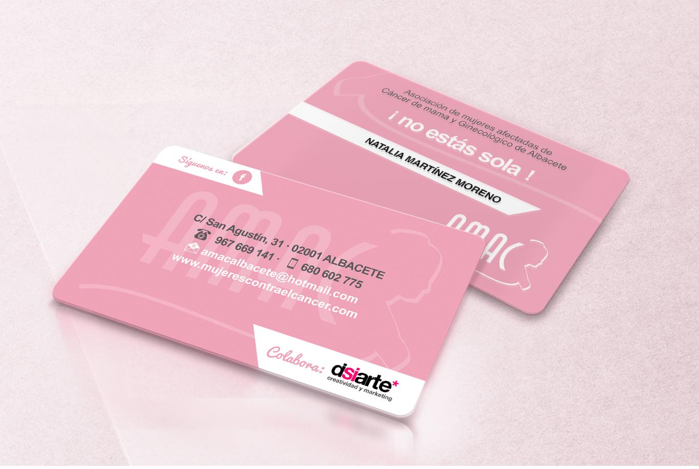 Diseño gráfico, diseño grafico Albacete e imprenta de tarjetas pvc AMAC