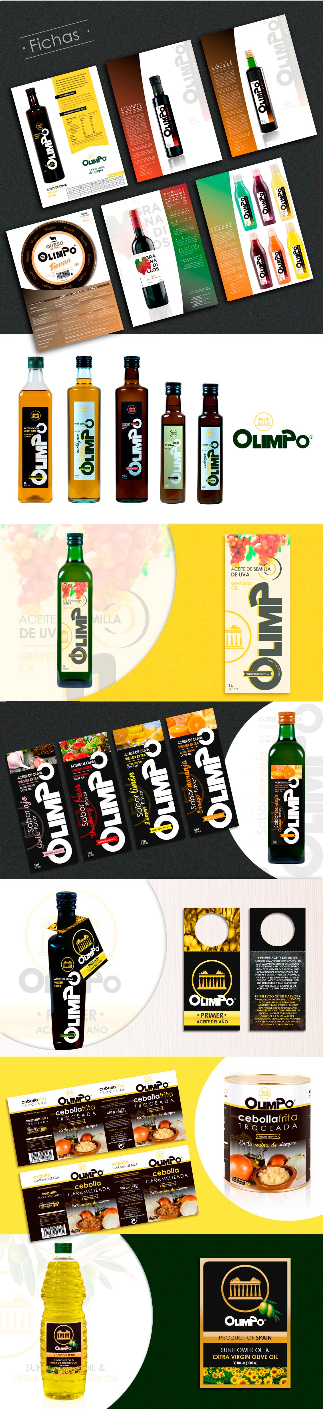Diseño grafico, branding, diseño de etiquetas de aceite Albacete, diseño etiquetas aceites Olimpo