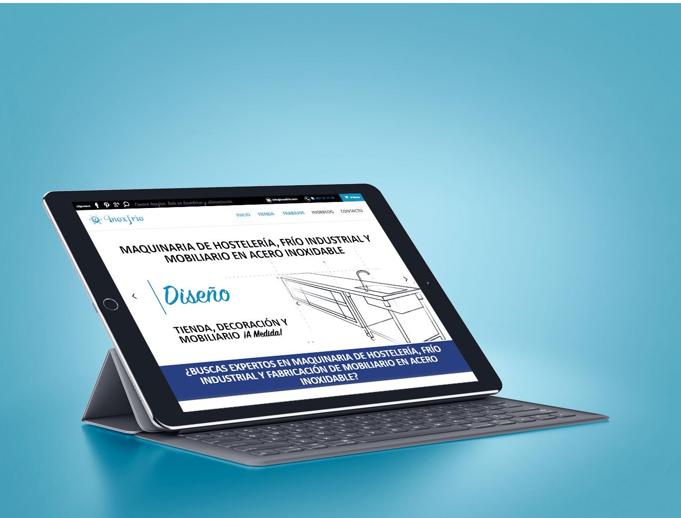 Diseño tienda online premium Madrid y posicionamiento web Madrid para empresa Inoxfrio