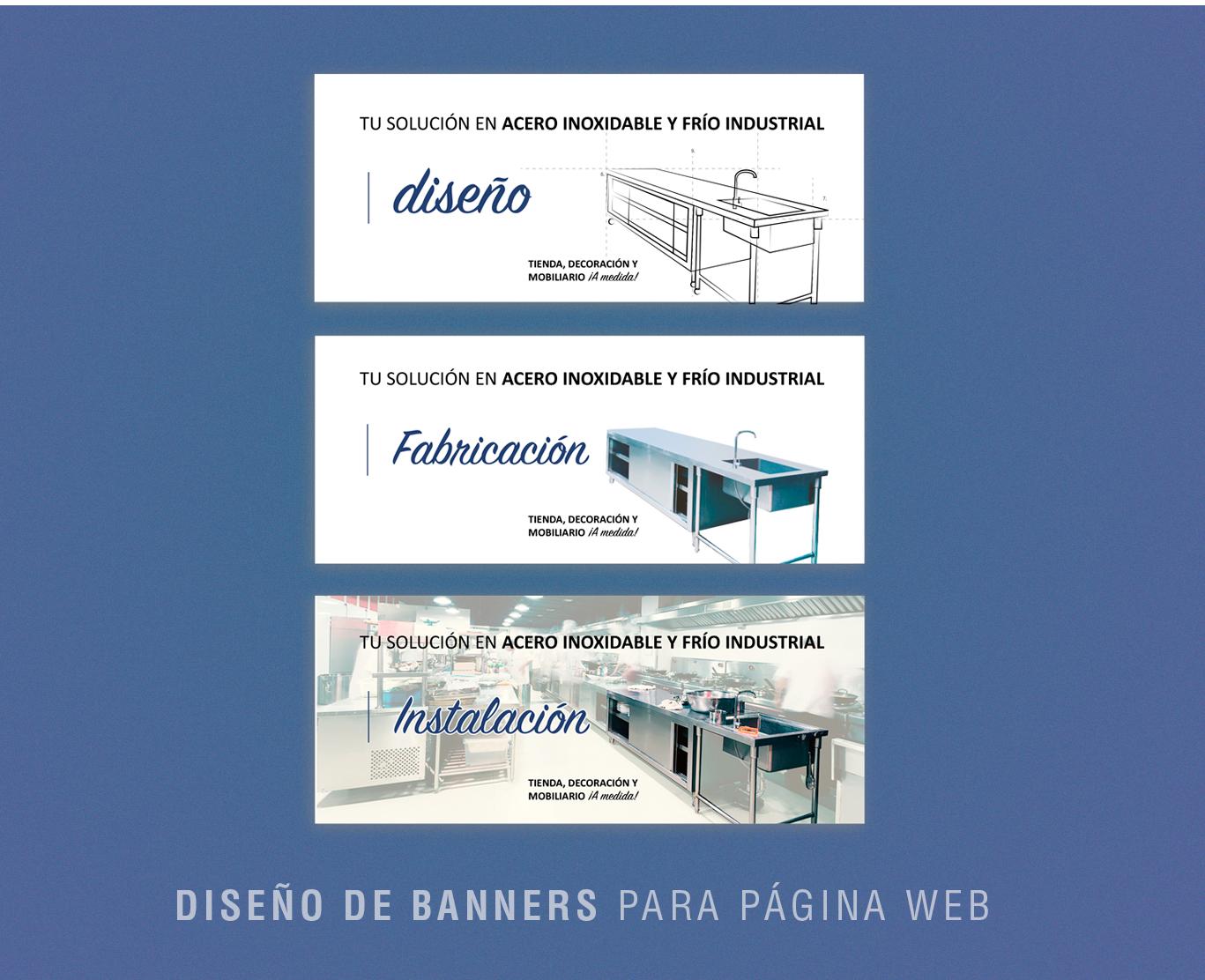Diseño web y diseño banners página web para empresa Inoxfrio