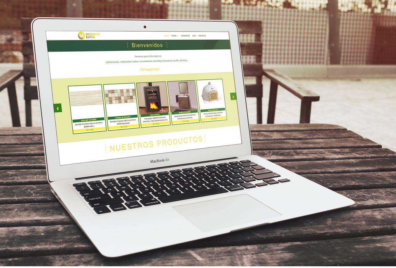 Diseño web Albacete, diseño de tienda online, programación y posicionamiento página web Materiales Luisa