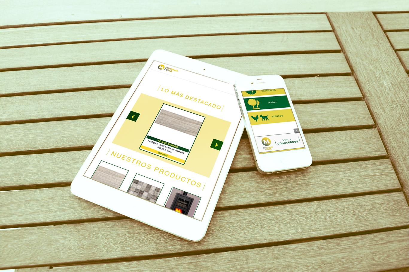 Diseño tienda online premium Albacete y posicionamiento web para empresa Materiales Luisa