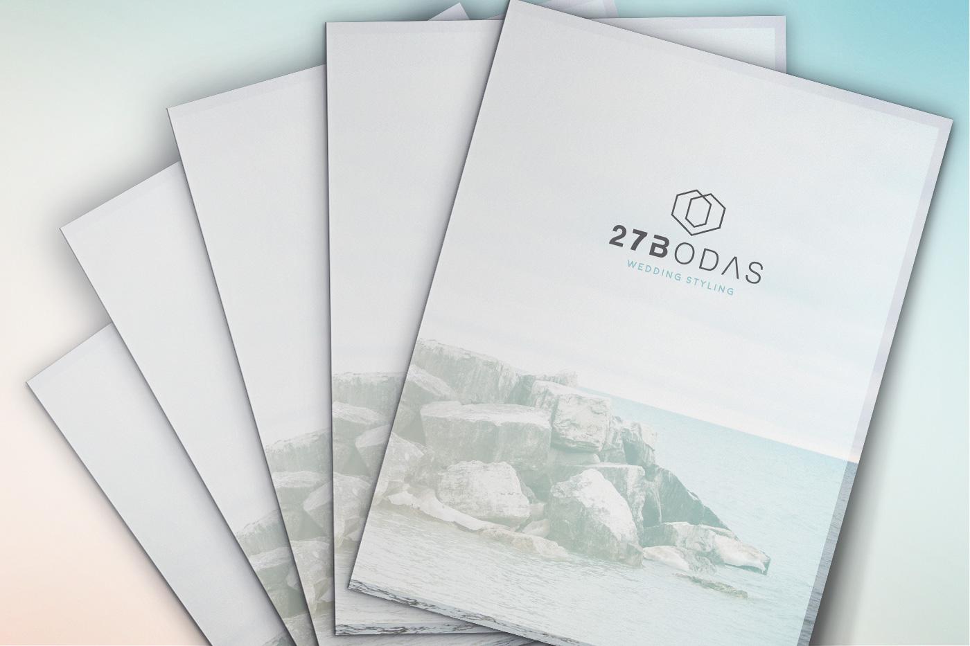Diseño grafico Albacete, imprenta Albacete, branding papelería empresa Albacete, 27 bodas