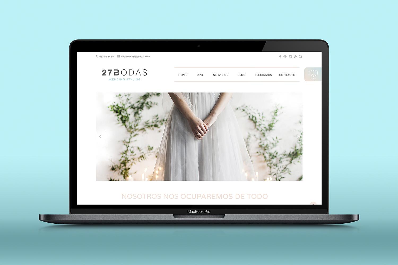 Diseño web albacete, Diseño grafico Albacete, redes sociales y SEO, tienda online 27 bodas