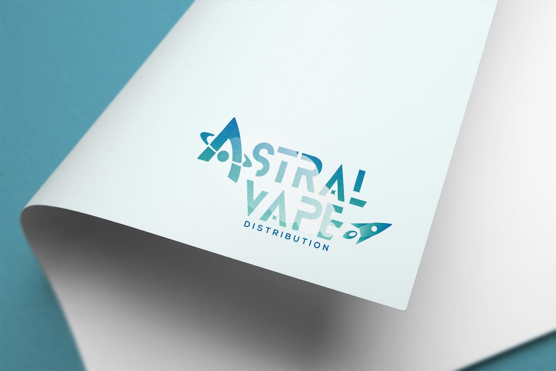 Diseño grafico Albacete, diseño de logotipo, branding Albacete Astralvape