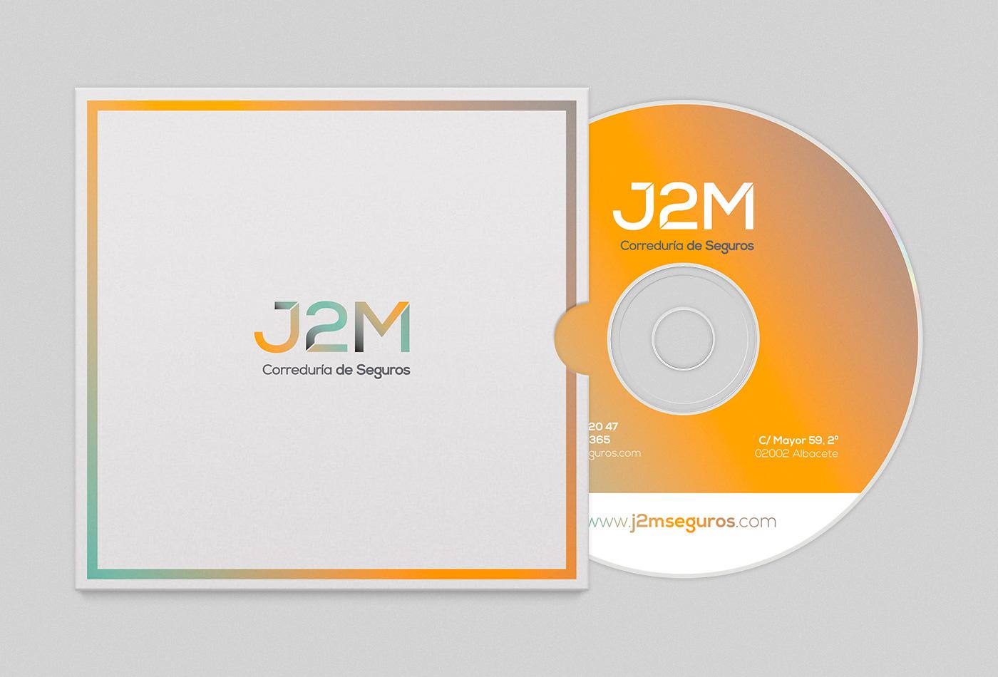 Cd imagen corporativa, Diseño grafico Albacete, branding Albacete, impresión tarjetas visita, J2M seguros