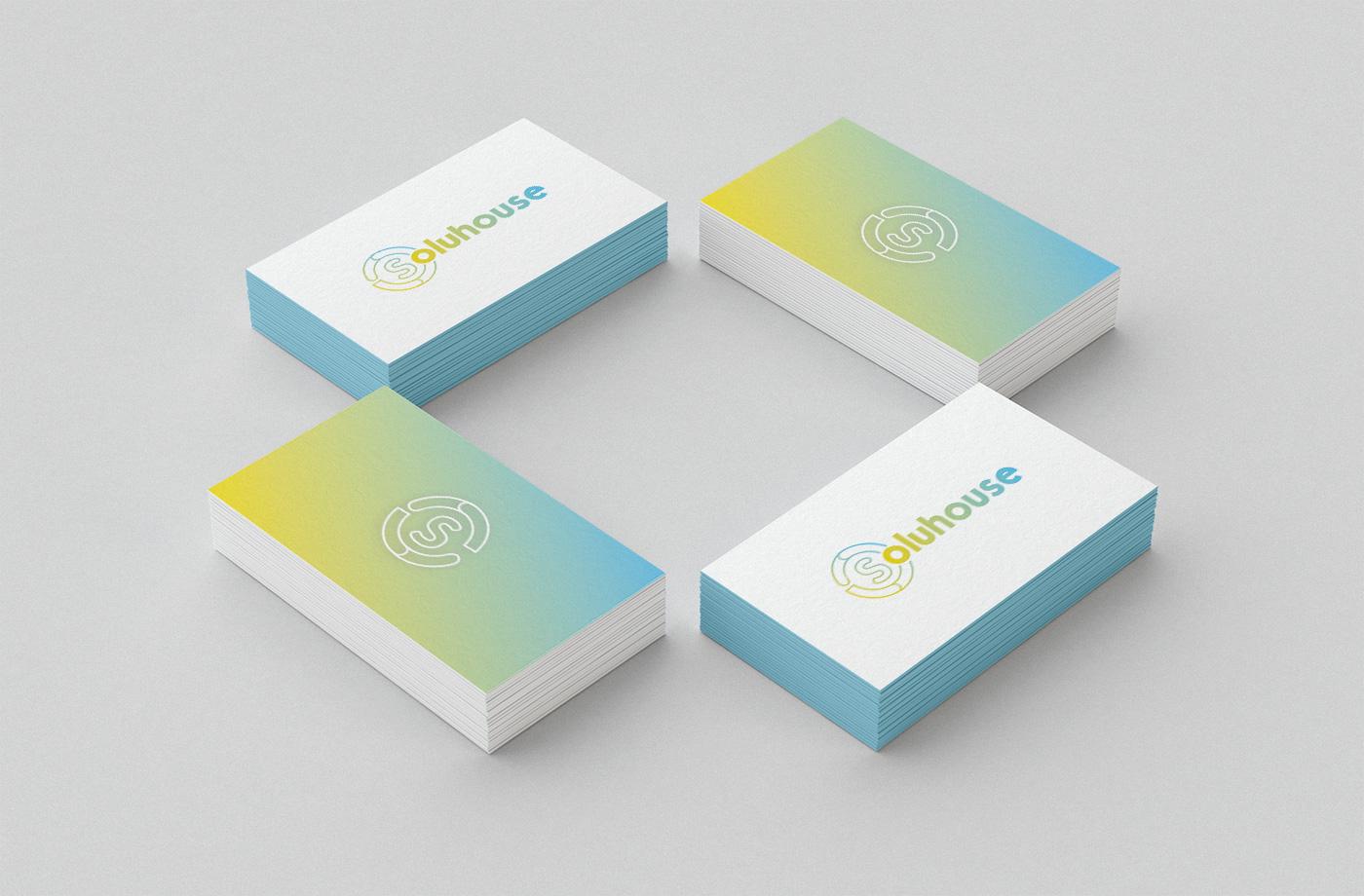 Papelería comercial empresa, Diseño grafico Albacete, branding Albacete, impresión tarjetas visita, SOLUHOUSE