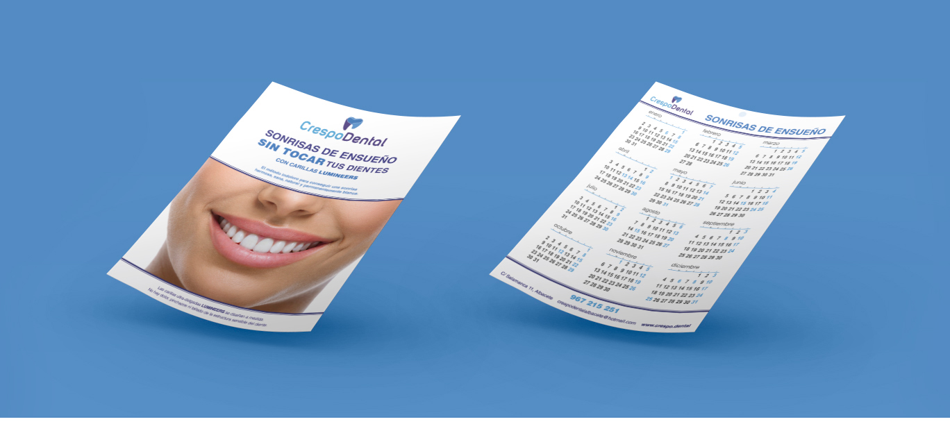 Diseño gráfico Albacete, diseño de flyers e imprenta Albacete Crespo Dental